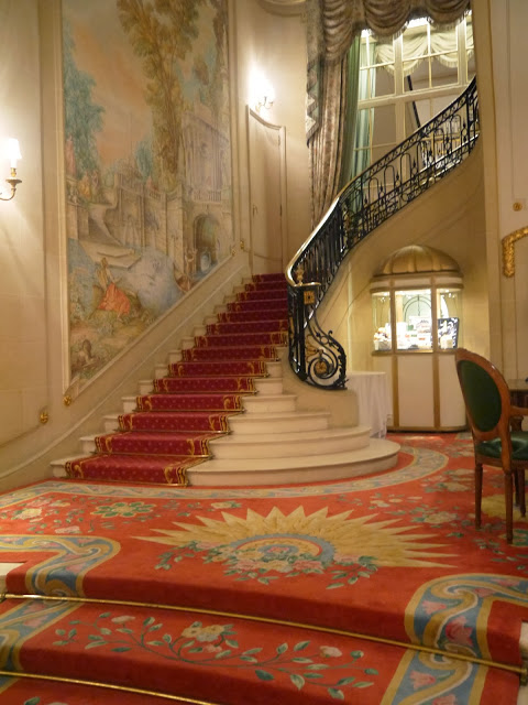 Ritz interior design entrance staircase