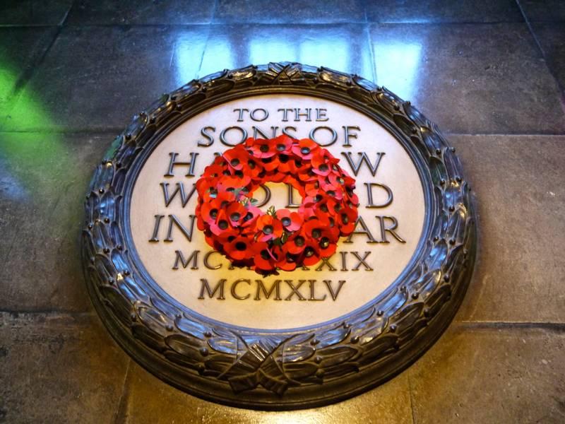 the 1877 club harrow war memorial