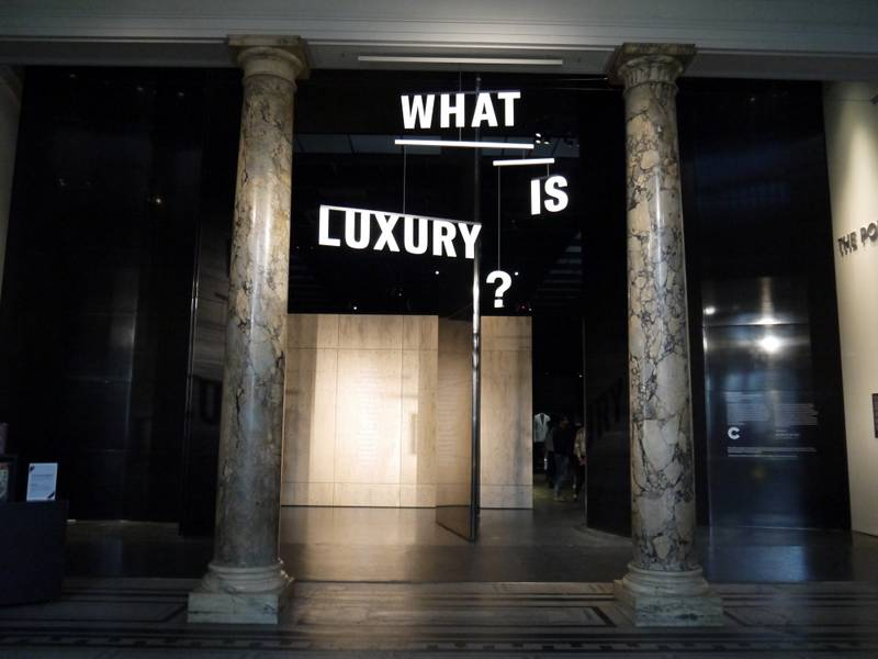 victoria and albert museum what is luxury