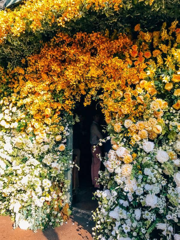 Chelsea Ivy Garden Jenny Packham Flower Installation